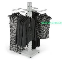 4 way apparel display rack
