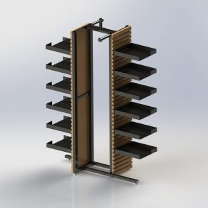 4 way display stand