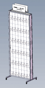 accessary display rack drawing